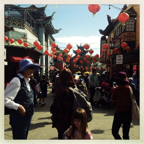 People celebrated the Chinese New Year at Central Plaza. Chinatown, Los Angeles. February 16th, 2013.