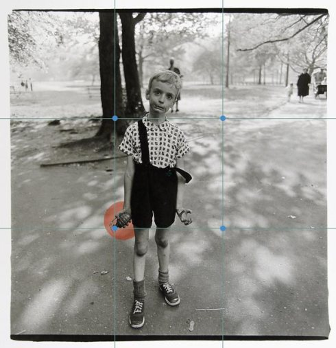 """Child with A Toy Hand Grenade"" taken by Diane Arbus. Central Park, NY. 1962."